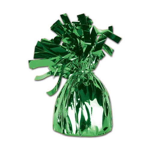 Beistle 50804-G Metallic Wrapped Balloon Weights, Includes 12 Pieces, 1, Green -