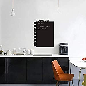 Dry Erase Contact Paper,Reusable Blackboard Sticker,Refrigerator Calendar,Meal Cooking Conversion Chart & to Do Grocery List - 2018 Kitchen Gift Set - Best Supplies for Smart (22.8'' x 17''(DS002-5))