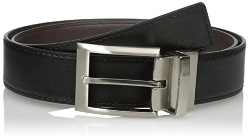 Calvin Klein Men's Calvin Klein Harness Buckle 35mm Reversible Belt, black/Brown, 34 by Calvin Klein