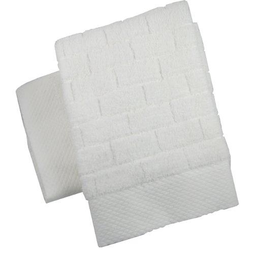 Luxury Brick Spa Hand Towel, White, Set of 2