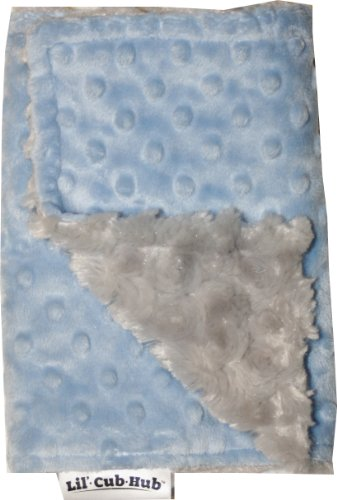 Minky Burp Cloth (Blue Dot/Silver Rosebud)