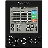 DIGOO DG-TH2048 Sonda Interna per Termometro, Temperatura e Umidità Con LED Punto di Allerta DEW, Funzione Index di 5 Livelli di Comfort Nero