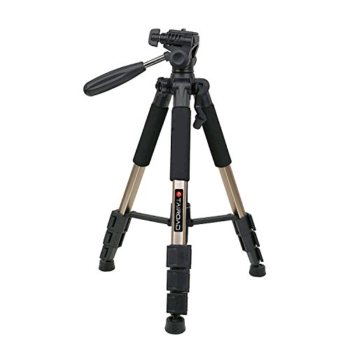 Tairoad T1-111 Tripod 55' Aluminum Lightweight Sturdy Tripod for Camera DSLR EOS Canon Nikon Sony Samsung Max Capacity 11lbs (Champagne)