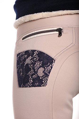 Horse Fashion Edition, Reithose damen, horze, breeches for ride, Weiß mit blauer Spitze, Reitausrüstung