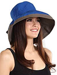 UV Protection Packable Cotton Sun Hat with Adjustable Drawstring - Stylish a5ed303f96fa