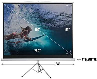 amazon com homegear 100 portable projector screen 100 inch diagonal projection hd 4 3 projection pull up foldable stand tripod office products portable projector screen 100 inch