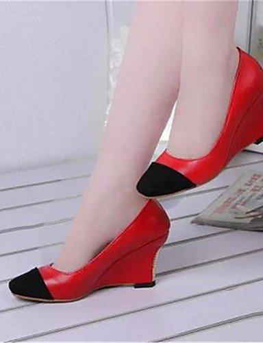oficina 7 5 a us8 Mujer Beige tac¨®n cu sint¨¦tico Y Zq Eu39 tacones Uk4 as Zapatos Eu37 5 Cn40 Rojo Red Cu azul Trabajo De Uk6 us6 Beige 5 Cn37 5 Vestido 5 XpwXzqH
