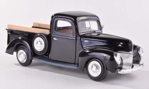 Ford Pick Up, black, 1940, Model Car, Ready-made, Motormax 1:24