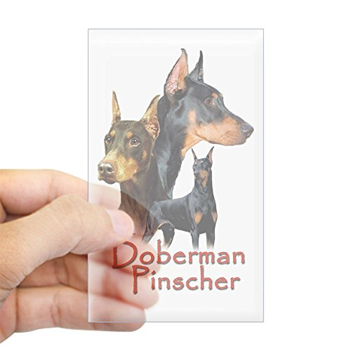 CafePress - Doberman Pincher-1 Rectangle Sticker - Rectangle Bumper Sticker Car ()