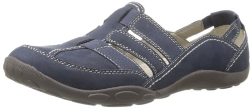 Clarks Women's Haley Stork Flat,Navy,5 M US ()