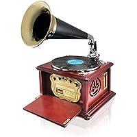 Pyle PUNP32BT Vintage Retro Classic Style Bluetooth Turntable Phonograph Speaker Sound System