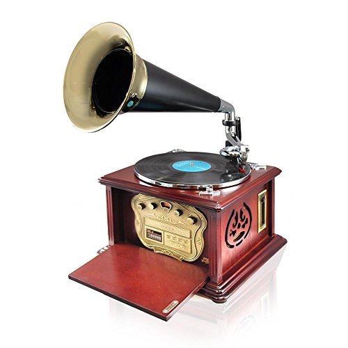 Pyle PUNP32BT Bluetooth Turntable Phonograph