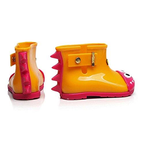 Rubber 0 alt Regen 7 Gelb Shark SYY Kind Wasserdichte Regen Kinder Kinder Jahre Stiefel Baby Infant Schuhe WU0xwqv