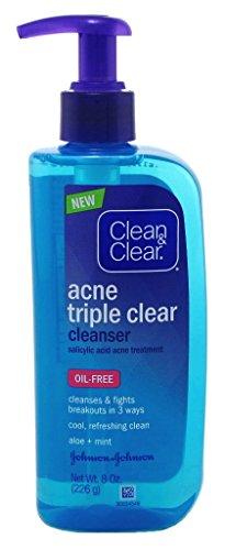 - Clean & Clear Acne Triple Clr Cleanser 8 Ounce Pump Oil-Free (236ml)
