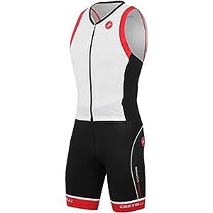 Castelli Free Sanremo Sleeveless Suit - White/Black/Red, XL - Men's