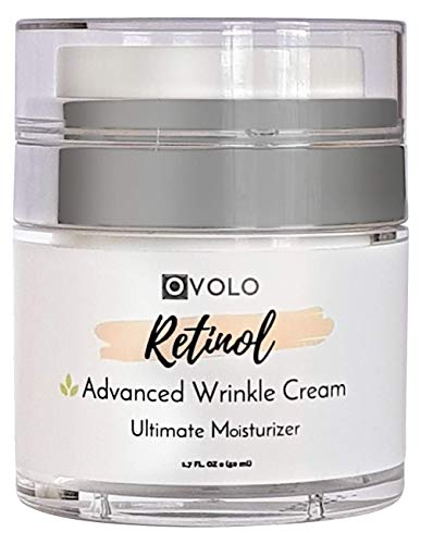 OVOLO Moisturizer Cream with Retinol for Face and Eye Area - BEST NEW 2019 Skin Care Option Formulated with Premium Ingredients (USA Made) - Anti Aging Rapid Wrinkle Repair Cream for Day and Night (Best Eye Cream For Wrinkles 2019)