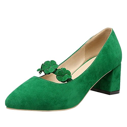 Zapatos Green On mujer Mid Slip Heel para Court lindos Shoes Mee rqXvr6