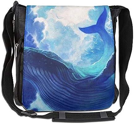 21b6ddf535c Amazon.com  UHNU Single-Shoulder Bag Whale Canvas Satchel Bag Shoulder Bag  Crossbody Sling Bag Men Women  Home   Kitchen