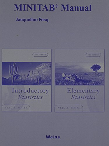 Minitab® Manual for Introductory Statistics and Elementary Statistics, 8/E