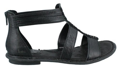 B.O.C Womens Kenza Leather Open Toe Casual T-Strap Sandals Black