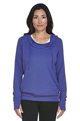 coolibar Mujer Sudadera con capucha Protección UV 50+ Empire blau