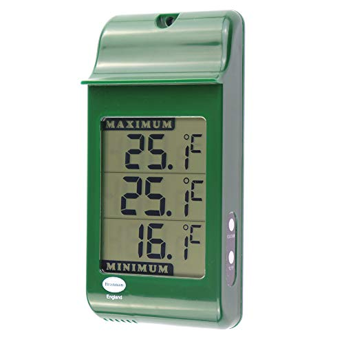 Indoor Outdoor Digital Wall Thermometer Garden Greenhouse Conservatory ***
