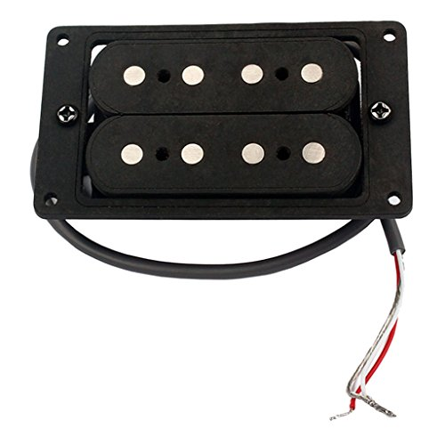 Hand Wound Humbucker Double Coil Pickup Black For 4 String Cigar Box Guitar