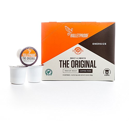 Bulletproof Coffee The Original Coffee Pods 24 Count Compatible with Keurig 1.0 and 2.0 brewing systems!