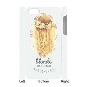 FLYBAI Floral Brunette Blonde Best Friend Matching Couple Phone 3D Case For Iphone 4/4s [Pattern-5]