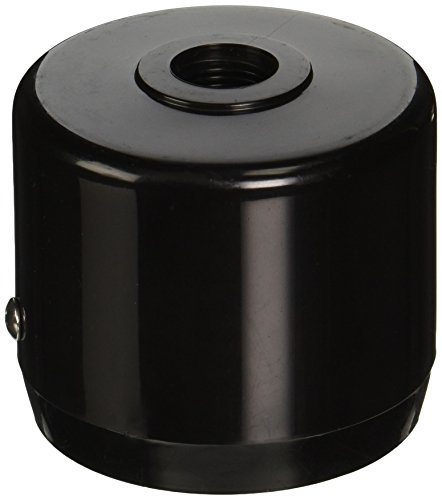 "RAB Lighting MCAP3B Mighty Post Cap for 3"" Pipe, 2-7/8"" OD, Black"
