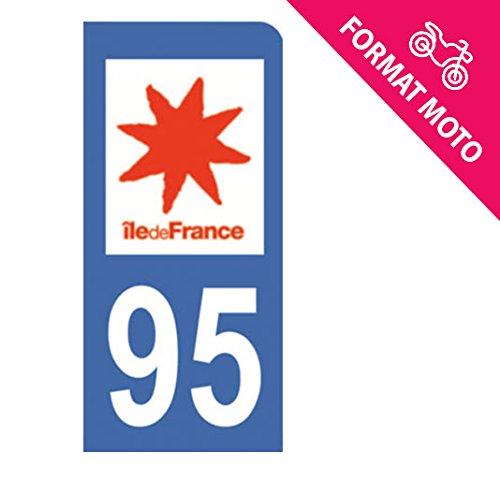 Autocollant Moto immatriculation 95 - Val d'Oise