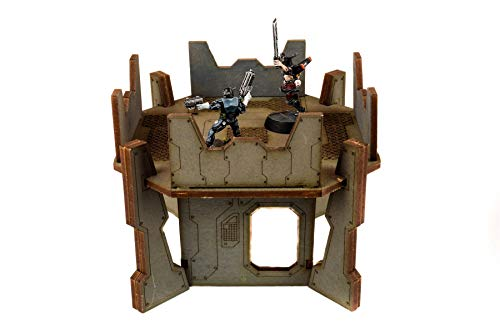 WWG Industry of War Firing Position Tower - 28mm Wargaming Terrain Model Diorama