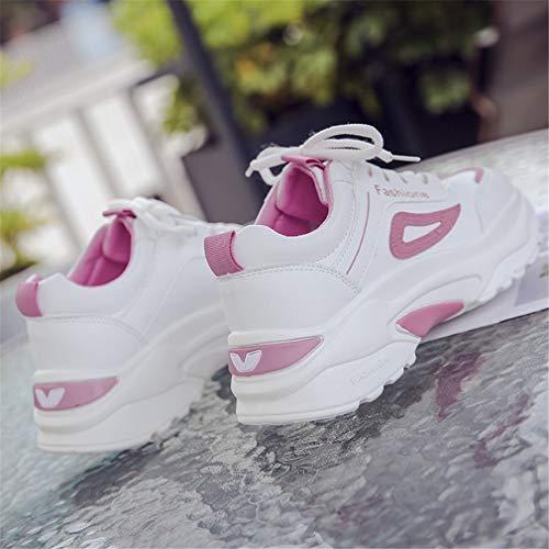 Zapatillas Deportivas Plataforma Antideslizante Entrenamiento Yan Mujeres c Rojo De Nuevas Zapatos Negro Deportivos Rosa Primavera Las 35 Moda nFRgYq