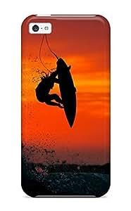 XiFu*MeiIphone 5c Hard Back With Bumper Silicone Gel Tpu Case Cover SurfingXiFu*Mei