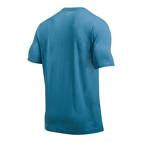 Under Armour Men's Camo Knockout Logo T-Shirt,Urban Blue Medium He (983), Large