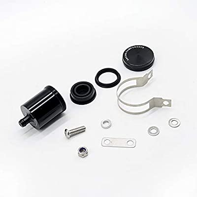 Motorcycle Brake Clutch Reservoir Cup Reservoir Bottle with Bracket for Yamaha YZF R1 R3 R6 R25 R125 FZ07 FZ09 FZ10 FZ1 FZ6 FZ8 for Honda CBR600RR CBR1000RR CB650F CB1000R(Titanium): Automotive