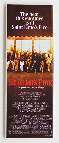 St. Elmo's Fire Movie Poster Fridge Magnet (1.5 x 4.5 inches)