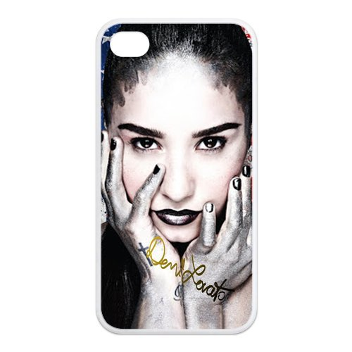 Fayruz- Demi Lovato Protective Hard TPU Rubber Cover Case for iPhone 4 / 4S Phone Cases A-i4K52