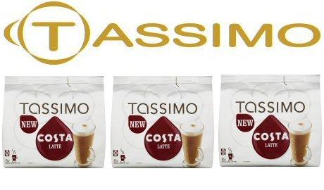 tassimo costa latte coffee discs - 4