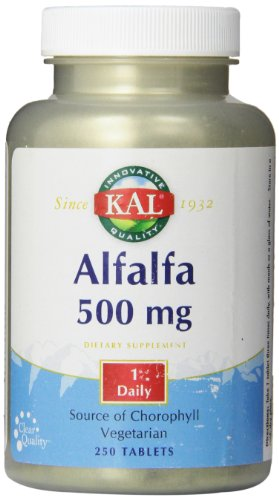 KAL Alfalfa 8 Grain Tablets, 500 mg, 250 Count For Sale