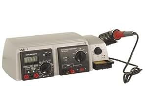 Laboratorio electrónico 3 en 1 estación de soldadura Hierro soldar + alimentación + Multimetre