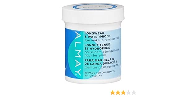 Amazon.com : Almay Longwear & Waterproof Eye Makeup Remover Pads 80 ea by AB : Health And Personal Care : Beauty