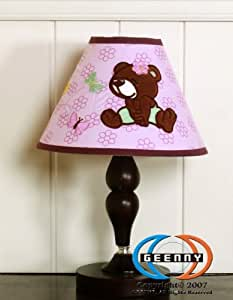 GEENNY Lamp Shade without Base, Girl Teddy Bear