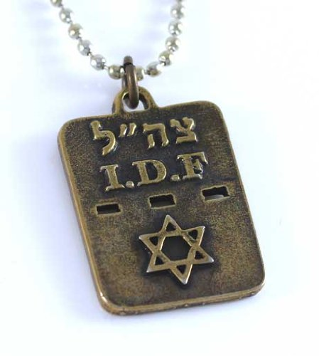 Israeli Army Dog Tag Necklace with Star of David