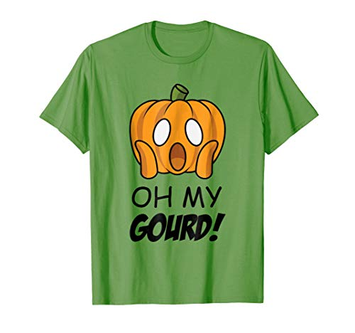 Oh My Gourd Cute Surprised Pumpkin Halloween Costume T-Shirt