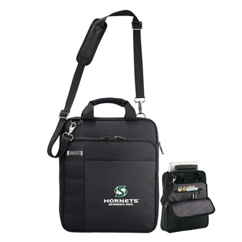 Sacramento State Kenneth Cole Black Vertical Checkpoint Friendly Messenger 'Official Logo' by CollegeFanGear