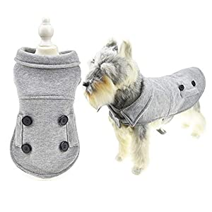 FLAdorepet Dog Jackets for Winter Dog Blanket Coat for Cold Weather Warm Pet Vest for Small Medium Dogs (L, Grey) Click on image for further info.