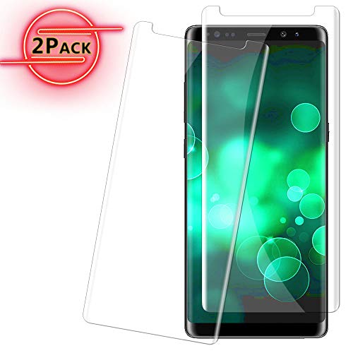 Galaxy Note 8 Screen Protector Tempered Glass Screen Protector [Case Friendly] for Samsung Galaxy Note 8 2017 Clear [2 Pack] (Note 2 Case Best)