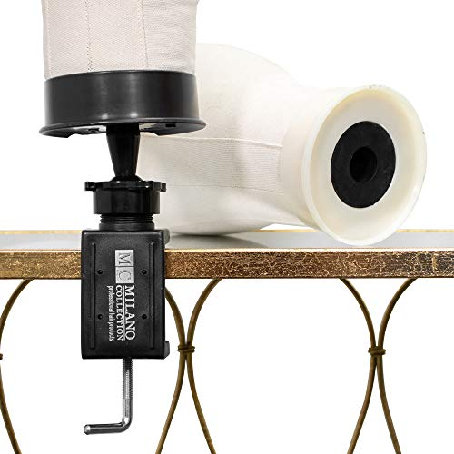 Milano Collection Deluxe Portable Mannequin Head Table Clamp for Wig Styling ()