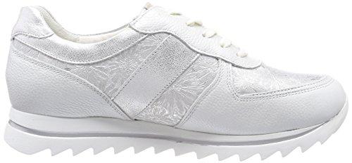 Oxford Haiba para Zapatos Pigalle Mujer Cordones Waldläufer Silber Bufa Margo 211 Bufa Plateado de dawIxfxq